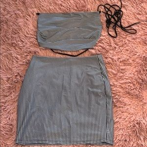 Lucy in the Sky Sleek Striped Two Piece Skirt Set